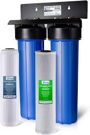 iSpring WGB22B 2-Stage 20 Big Blue Whole House Water Filter